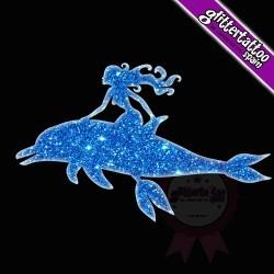 Delfin con Sirena 6.5cm x 4.5cm - ref: 0001A