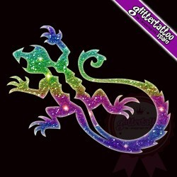 Lizards Glitter Tattoo Spain - Lagartija-maori
