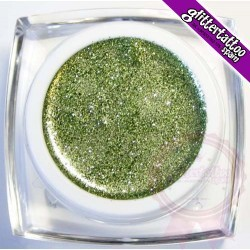 Light green body / facial glitter gel 10 ml.