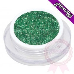 Glitter gel of 10 ml. Emerald green