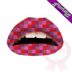 Lèvres pixélisées