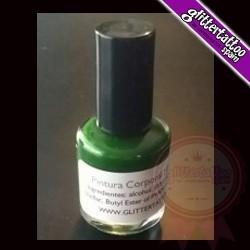 Green body paint of 15 ml.