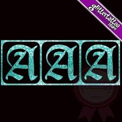 """""""A"""" - 3 en 1 - La letra mide 2.5cm de alto"""