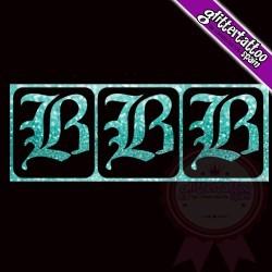 """""""B"""" - 3 en 1 - La lettre mesure 2,5 cm"""