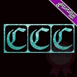 """""""C"""" - 3 en 1 - La letra mide 2.5cm de alto"""