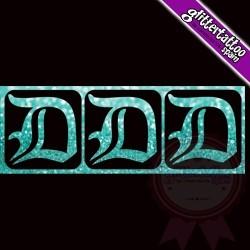 """D"" - 3 en 1 - La lettre mesure 2,5 cm"
