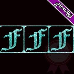 """""""F"""" - 3 en 1 - La letra mide 2.5cm de alto"""