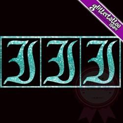 """""""I"""" - 3 en 1 - La lettre mesure 2,5 cm"""