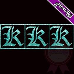 """""""K"""" - 3 en 1 - La letra mide 2.5cm de alto"""