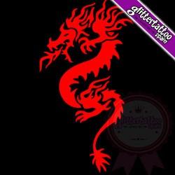 Dragon with flames 10.5cm x 6.5cm ref: D8