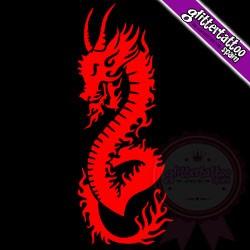 Fire dragon - 12cm x 5cm - Ref: D4