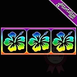 3 in 1 Hibiscus 7,5cm x 2,5cm