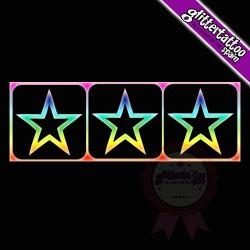 3 en 1 Estrellas 2 - 7cm x 2,5cm