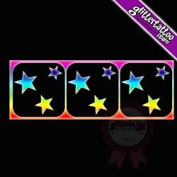 3 in 1 Stars 3- 7cm x 2,5cm Ref-V68