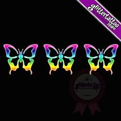 3 in 1 Butterflies 7.5cm x 2,5cm Ref V68