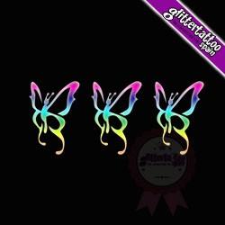 3 en 1 Mariposas 2 - 5,5cm x 2,5cm Ref-V68