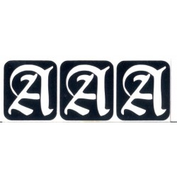 Letra A - 3 en 1 - cada letra mide 2.5cm de alto