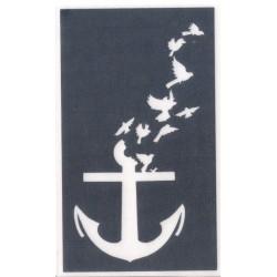 Anchor with birds - 9cm x 5,5cm - Ref Y28