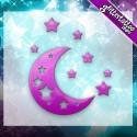 Les étoiles et les lunes.