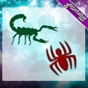 Scorpions et araignées.