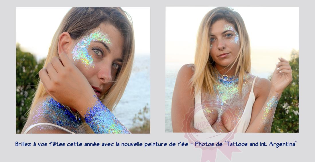 La peinture de fée a l'air si brillante et jolie quand vous peignez un peu sur votre visage ou votre corps.